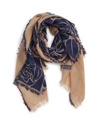 Tricot Comme des Garcons Rose Jacquard Wool Blend Scarf