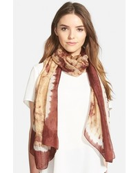 Tie dye silk scarf medium 326343