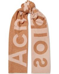 Acne Studios Toronty Intarsia Wool Blend Scarf