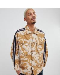 Tan Print Shirt Jacket