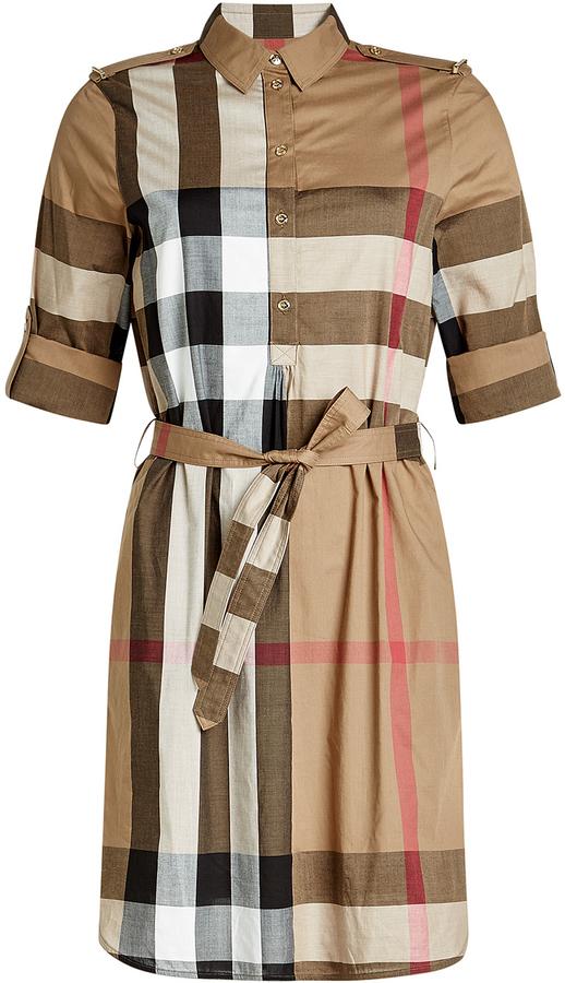 f2fedb07f81c ... Burberry Printed Cotton Shirt Dress ...