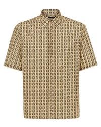 Fendi Ff Print Short Sleeved Shirt