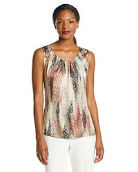 Notations Zig Zag Print Dullshine Tank Top