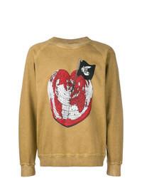 Tan Print Sweatshirt