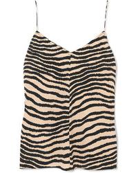 By Malene Birger Lacia Zebra Print Crepe Camisole