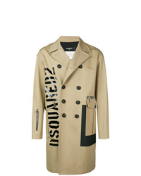 DSQUARED2 Logo Double Breasted Coat