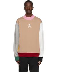 Mastermind World Multicolor Paneled Hi Neck Sweatshirt