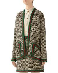 Gucci Wool Blend Tweed Jacket