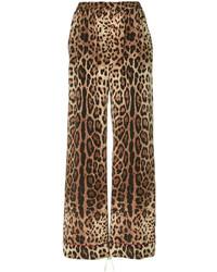 Dolce & Gabbana Leopard Print Wide Leg Trousers