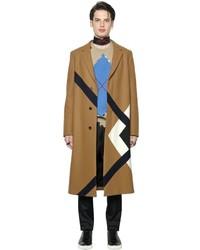 MSGM Argyle Intarsia Wool Coat