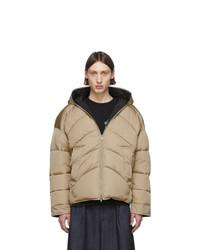 Random Identities Beige Duvet Puffer Jacket