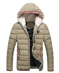 Honey GD Full Zip Fashion Thick Long Sleeve Down Jackets Coat