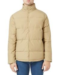 Topman Wax Coated Puffer Jacket