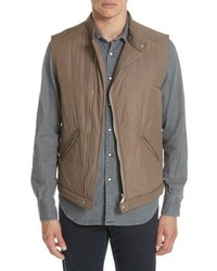 Tan Quilted Gilet