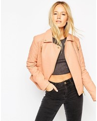Collection textured biker jacket with quilt detail medium 320691