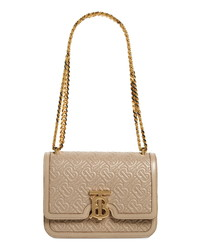 Burberry Small Tb Quilted Monogram Lambskin Bag