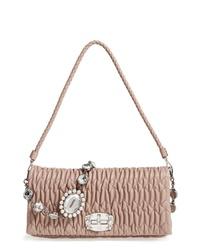 Miu Miu Medium Crystal Matelasse Leather Crossbody Bag