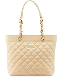 St. John Collection Quilted Leather Tote Bag Classic Beigegold