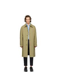 AMI Alexandre Mattiussi Beige Mac Trench Coat