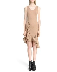Ruffled wool jersey dress medium 3695198