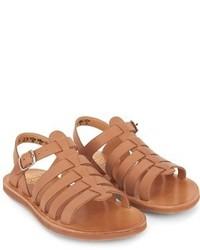 Pom D'Api Tan Plagette Strap Sandals