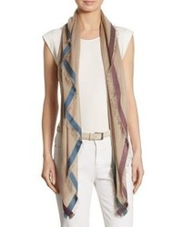 Loro Piana Colorblock Trimmed Scarf