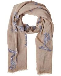 Elsa marotta praying skeleton cashmere scarf medium 609521