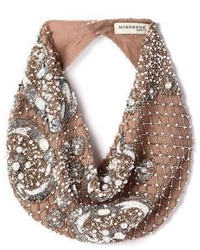 Mignonne Gavigan Le Charlot Beaded Scarf Necklace Nude