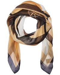 Vince Camuto Military Color Block Square Scarf Scarves
