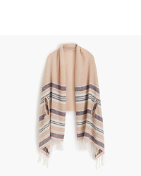 J.Crew Summerweight Cape Scarf In Mixed Stripe