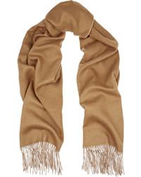 Rag & Bone Two Tone Double Faced Merino Wool Scarf Camel