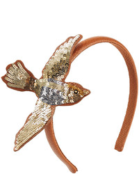 RED Valentino Red Valentino Leathersequin Swallow Headband