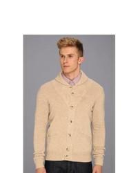 Ben Sherman High Shawl Collar Cardigan Sweater Light Honey
