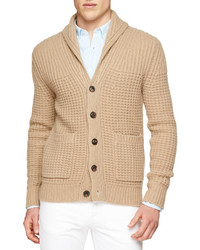 Brit shawl collar chunky knit cardigan medium 225769