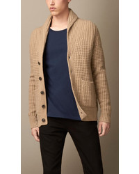 Burberry Brit Wool Cashmere Shawl Collar Cardigan