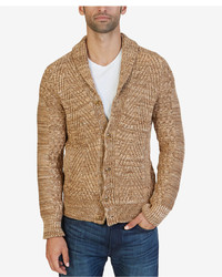 Nautica Mixed Knit Shawl Collar Cardigan