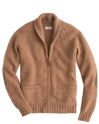 J.Crew Wallace Barnes Shetland Wool Zip Cardigan Sweater