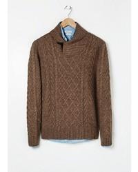 Mango Outlet Outlet Aran Wool Blend Sweater