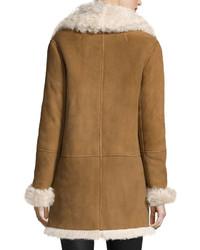 Theory Abrienda Gosford Fur Coat Cognacivory