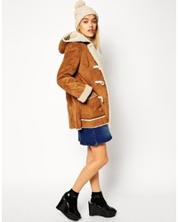 Asos Petite Faux Shearling Duffle Coat | Where to buy & how to wear