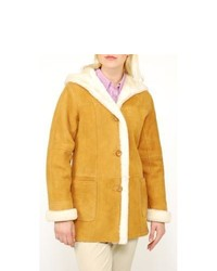 Aston Hooded 4 Button Shearling Coat