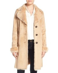 Badgley mischka faux shearling lined coat medium 784976