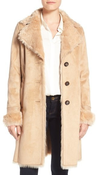 Badgley Mischka Faux Shearling Lined Coat