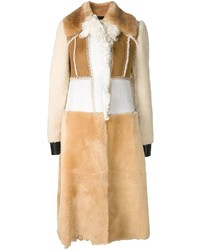 Calvin Klein Collection Shearling Patchwork Coat