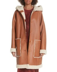 Elizabeth and James Carver Genuine Shearling Coat