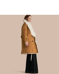 Burberry Double Breasted Shearling Coat