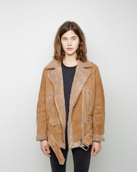 Acne Studios More Shearling Moto Jacket