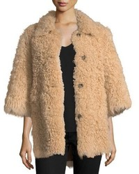 RED Valentino Redvalentino Reversible Shearlingsuede Coat