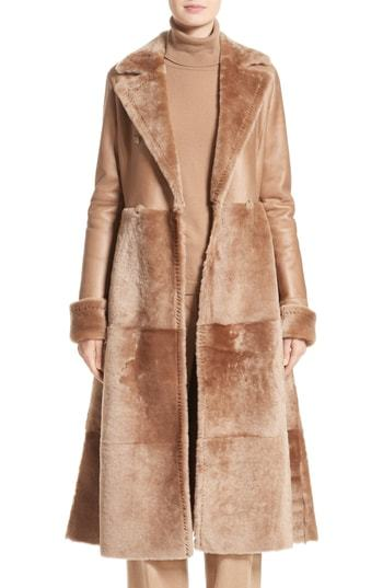 Max Mara Rimini Genuine Shearling Coat