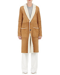 TOMORROWLAND Shearling Button Front Coat